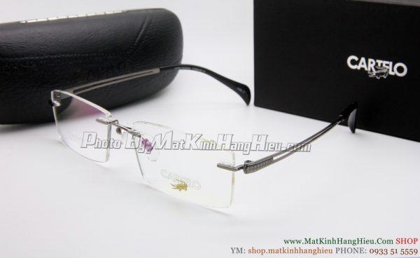 gọng kính cận titanium Cartelo 2344