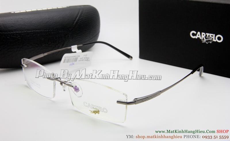 gọng kính cận titanium Cartelo 2345