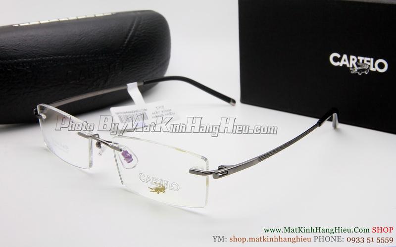 gọng kính cận titanium Cartelo 2346