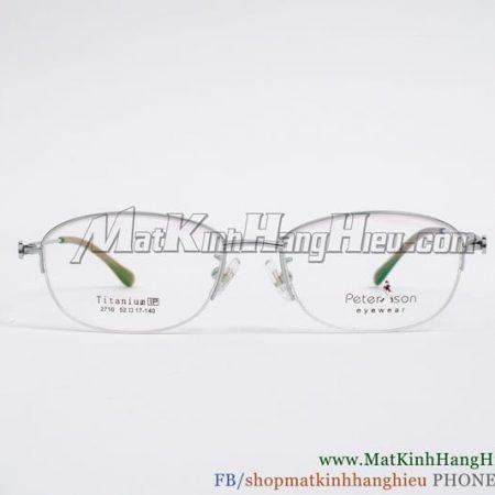 Gọng kính cận Titanium Peterson 2716