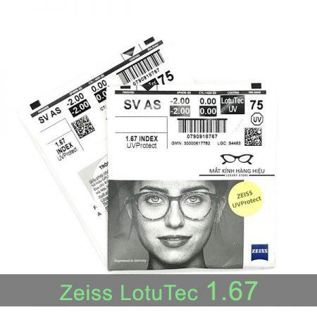 Tròng kính Zeiss LotuTec 1.67