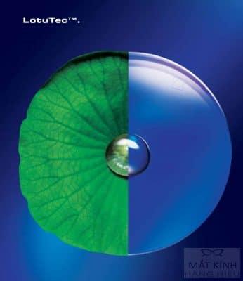 Tròng kính Zeiss LotuTec với hiệu ứng lá sen