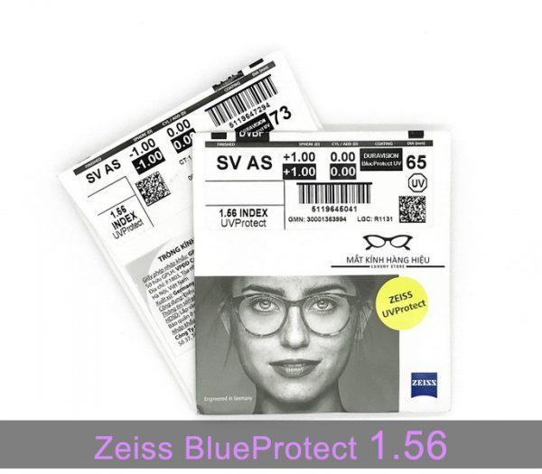 Tròng kính lọc ánh sáng xanh Zeiss BlueProtect UV 1.56