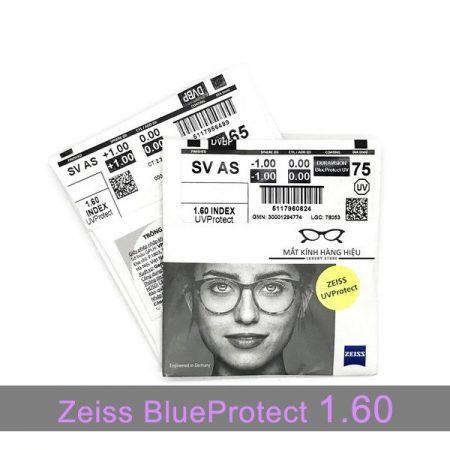 Tròng kính lọc ánh sáng xanh Zeiss BlueProtect UV 1.60