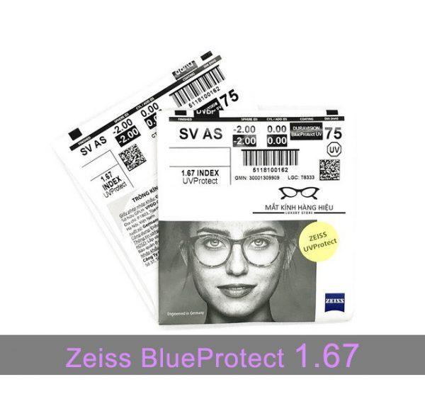 Tròng kính lọc ánh sáng xanh Zeiss BlueProtect UV 1.67