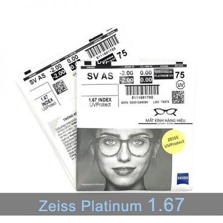 Tròng kính ZEISS Platinum UV 1.67